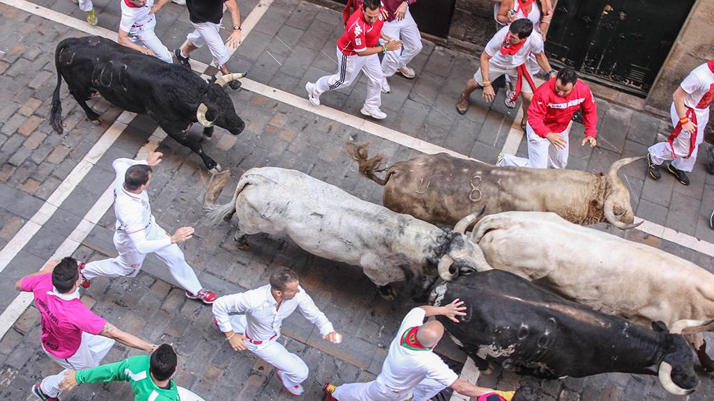 Balconies Running ot the Bulls